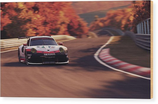 Porsche 911 Rsr, Nordschleife - 41 Wood Print