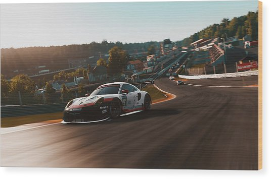 Porsche 911 Rsr, Spa-francorchamps - 33 Wood Print