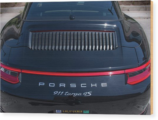 Porsche 911 Targa 4s Wood Print