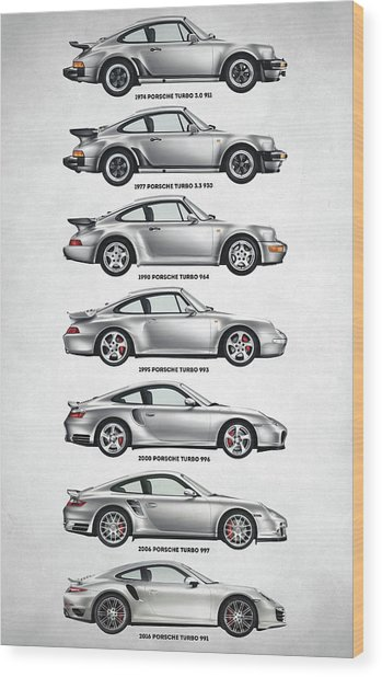 Porsche 911 Turbo Evolution Wood Print