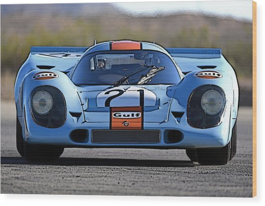 Porsche 917 Shorttail Wood Print
