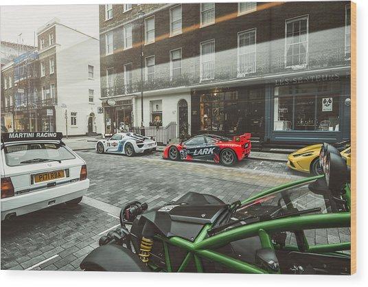 Porsche 918 Mclaren F1 Gtr Ferrari Specialea Ariel Nomad And Lancia Delta Integrale Wood Print