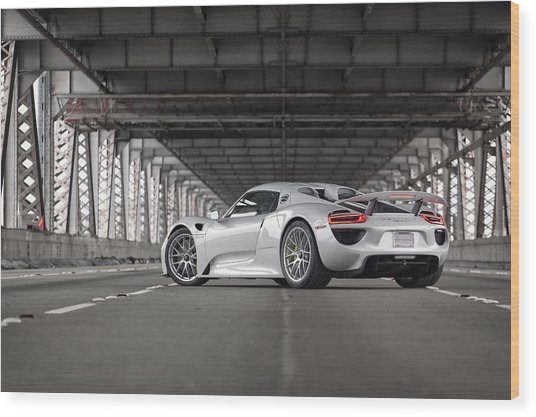 Wood Print featuring the photograph Porsche 918 Spyder by ItzKirb Photography
