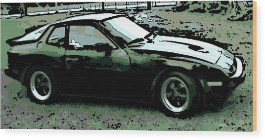 Porsche 944 On A Hot Afternoon Wood Print