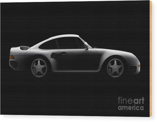 Porsche 959 - Side View Wood Print