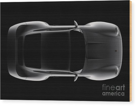 Porsche 959 - Top View Wood Print