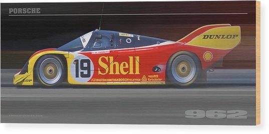 Porsche 962 Andretti Wood Print