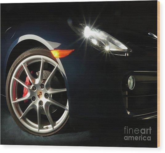 Porsche Cayman S Night Detail Wood Print