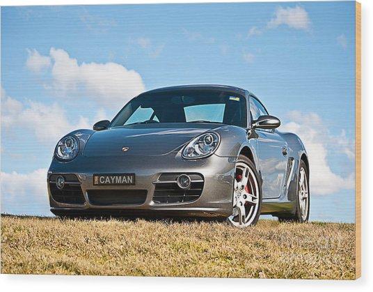 Porsche Cayman Wood Print