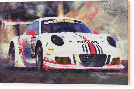 Porsche Gt3 Martini Racing - 04 Wood Print by Andrea Mazzocchetti