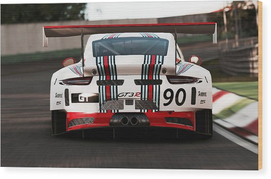 Porsche Gt3, Martini Racing, Monza - 03 Wood Print