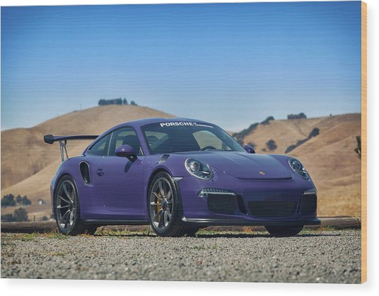 Wood Print featuring the photograph #porsche #gt3rs #ultraviolet by ItzKirb Photography