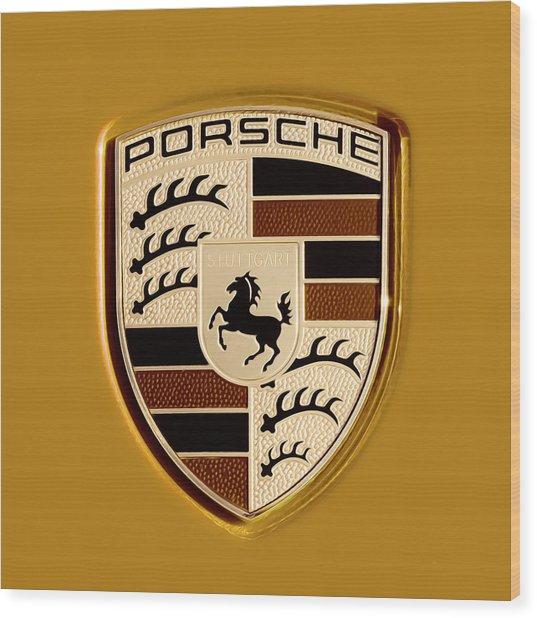 Porsche Oil Paint Filter 121615 Wood Print