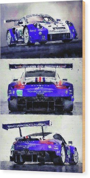 Porsche Rsr Le Mans 2018 - 02 Wood Print