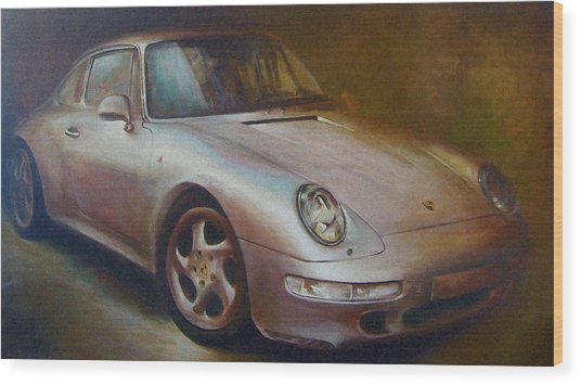 Porsche Wood Print