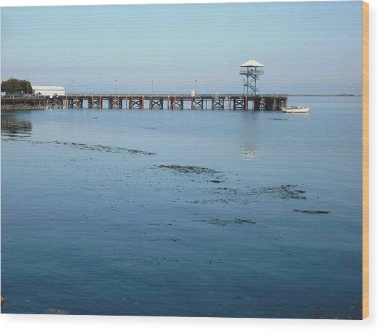 Port Angeles Pier Wood Print