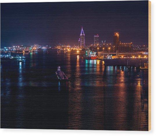 Port City Purple Wood Print