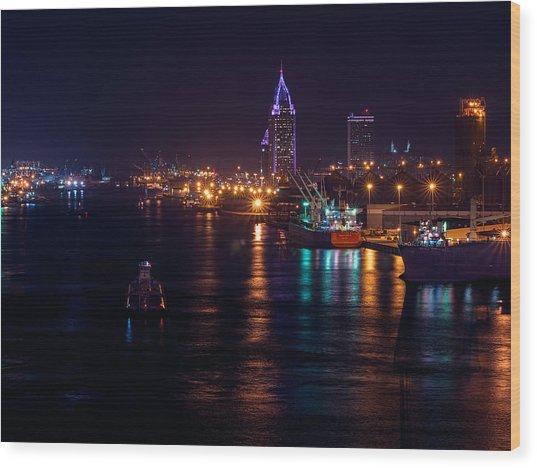 Port City Purple Closer Wood Print