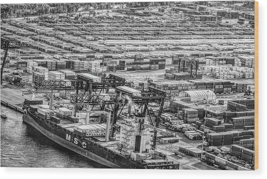 Port Everglades 1 Wood Print