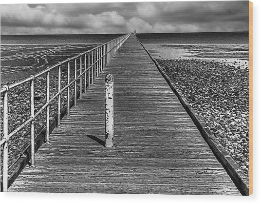 Port Germein Long Jetty Wood Print