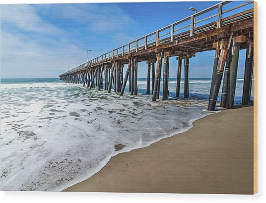 Port Hueneme Fishing Pier Wood Print