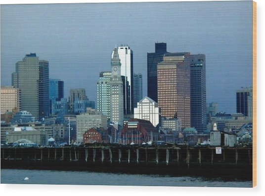 Port Of Boston Wood Print