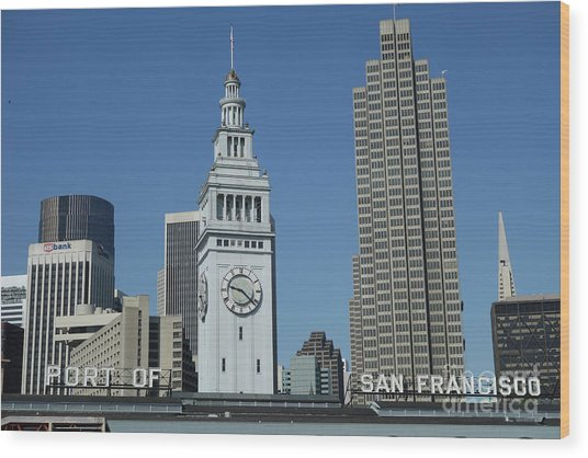 Port Of San Francisco Wood Print