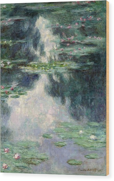 Port-pond With Water Lilies-1907 Wood Print
