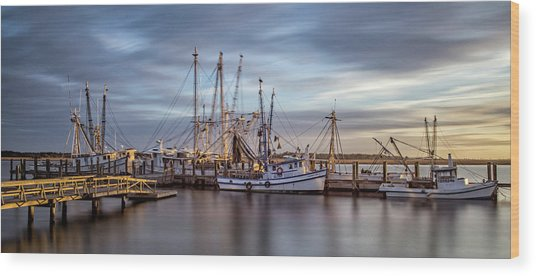 Port Royal Shrimp Boats Wood Print