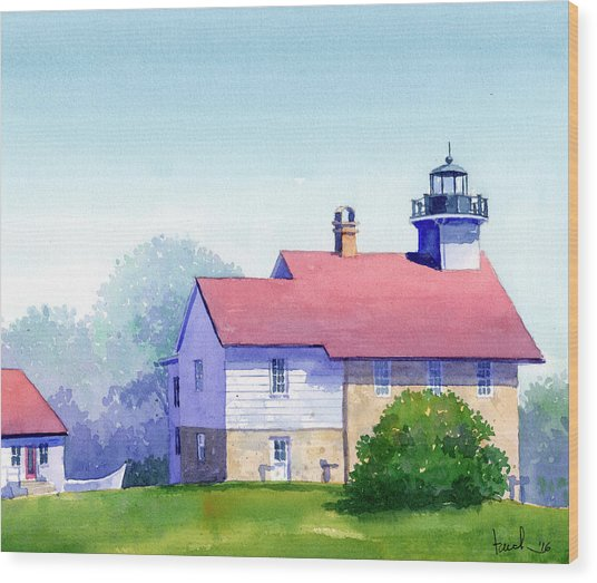 Port Washington Lighthouse Wood Print