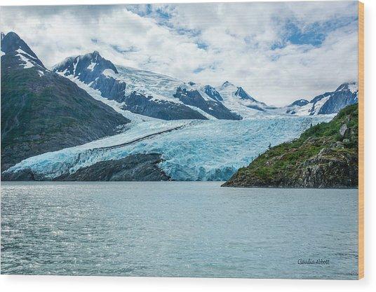 Portage Glacier Wood Print