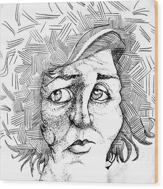 Portait Of A Woman Wood Print