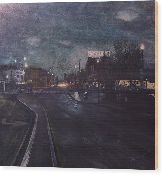 Porter Square Wood Print by Richard Ong