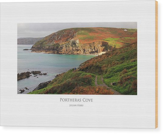 Wood Print featuring the digital art Portheras Cove by Julian Perry