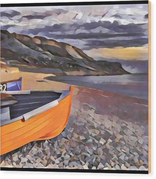 Portland Chesil Beach Wood Print
