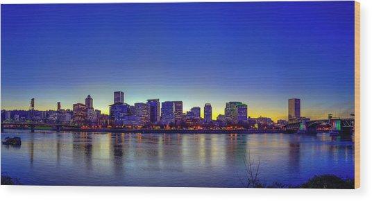 Portland Cityscape Wood Print