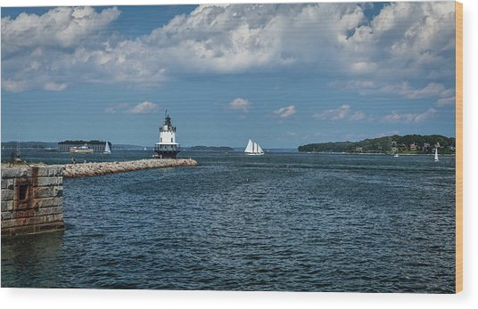 Portland Harbor, Maine Wood Print