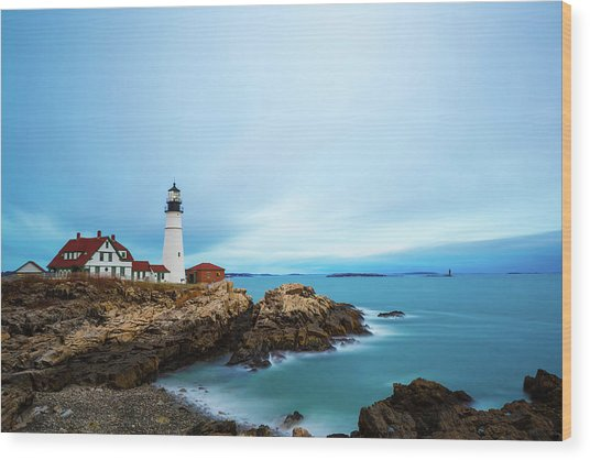 Portland Head Light 1 Wood Print
