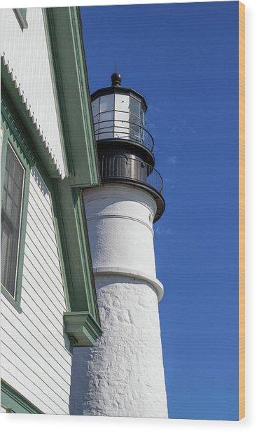Portland Head Light Detail Wood Print