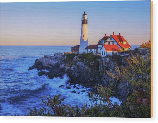Portland Head Light II Wood Print