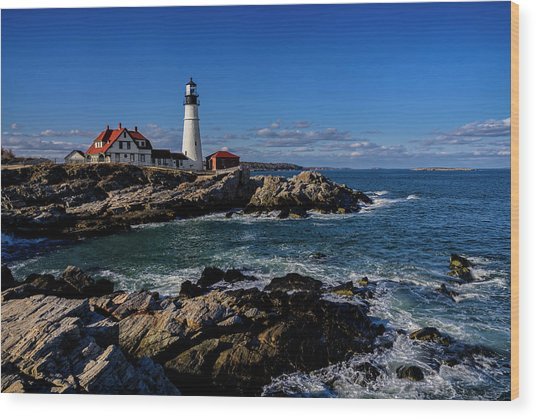 Portland Head Light No.32 Wood Print