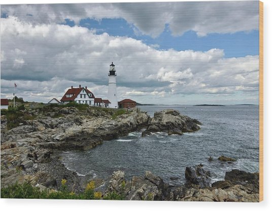 Portland Head Light, Starboard Wood Print