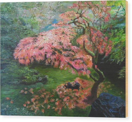 Portland Japanese Maple Wood Print
