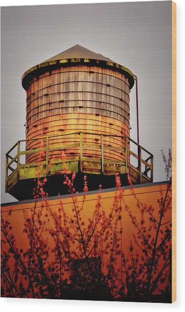 Portland Water Tower IIi Wood Print