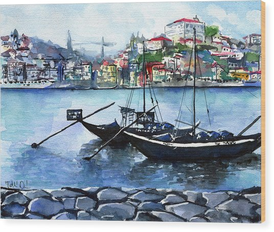 Porto Rabelo Boats Wood Print
