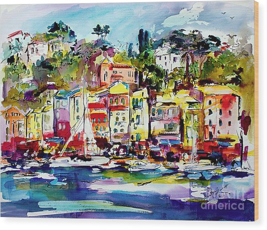 Portofino Italian Riviera Wood Print