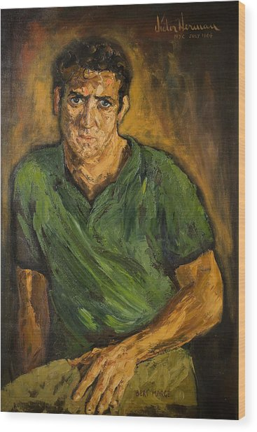 Portrait - Bert Marge Wood Print by Joni Herman