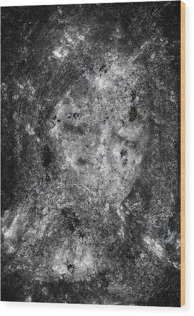 Portrait In Black Wood Print by Randy Steele
