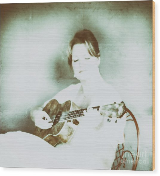 The Sound Of A Portrait  Wood Print by Steven Digman