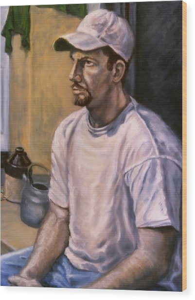 Portrait Mark Wood Print by John Clum